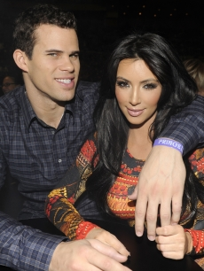 "Kris Humphries and Kim Kardashian watch Prince perform during his ""Welcome 2 America"" tour at Madison Square Garden in New York City on February 7, 2011"