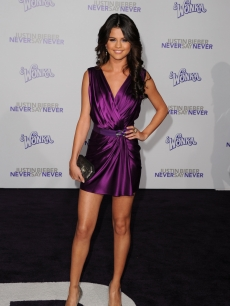 "Selena Gomez arrives at the premiere of Paramount Pictures' ""Justin Bieber: Never Say Never"" held at Nokia Theater L.A. Live, Los Angeles, February 8, 2011"