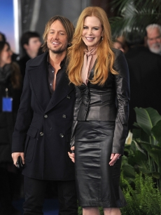 Keith Urban and Nicole Kidman attend the premiere of &#8220;Just Go With It&#8221; at the Ziegfeld Theatre in New York City on February 8, 2011 