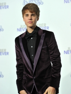 "Justin Bieber arrives at the premiere of ""Never Say Never"" held at Nokia Theater L.A. Live in Los Angeles on February 8, 2011"
