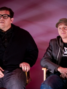 Nick Frost and Simon Pegg attend the Apple Meet The Filmakers event at the Apple Store, Regent Street, London, February 9, 2011