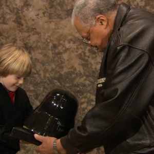 Super Bowl Darth Vader Kid Meets James Earl Jones