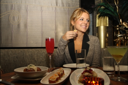 Ali Fedotowsky was spotted dining with her closest friends at the Lower East Side hot spot Beauty &amp; Essex on February 2, 2011.