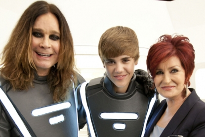 Ozzy, Justin Bieber and Sharon Osborne