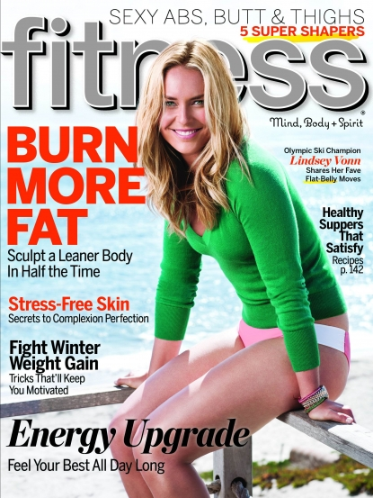 Lindsey Vonn on the cover of Fitness magazine (Feb. 2011)