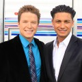 Access Hollywood's Billy Bush & Access guest correspondent DJ Pauly D on the 2011 Grammys red carpet