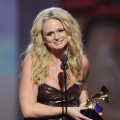 "Miranda Lambert was all smiles as she won the Grammy for Best Female Vocal Country Performance for her song ""The House That Built Me"" at the 53rd Annual Grammy Awards on February 13, 2011"