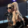 Lady Gaga accepts the Grammy for Best Pop Vocal Album onstage during The 53rd Annual Grammy Awards held at Staples Center on February 13, 2011 in Los Angeles