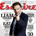 Liam Neeson on the March 2011 cover of Esquire magazine