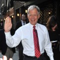 "David Letterman greets fans outside ""The Late Show with David Letterman"" at the Ed Sullivan Theater, NYC, June 21, 2010"