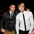 """Glee"" stars Harry Shum Jr. and Chord Overstreet are spotted at Tao in Las Vegas on February 19, 2011"