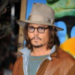"Johnny Depp arrives at the premiere of ""Rango"" at Regency Village Theater in Los Angeles on February 14, 2011"