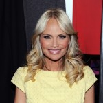 Kristin Chenoweth poses backstage at the Milly by Michelle Smith Fall 2011 fashion show during Mercedes-Benz Fashion Week at The Stage at Lincoln Center, NYC, February 16, 2011