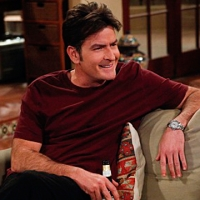 "Charlie Sheen on ""Two and a Half Men,"" Jan. 18, 2010, CBS"
