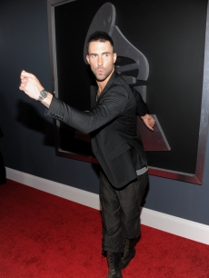 Adam Levine of the band Maroon 5 arrives at The 53rd Annual Grammy Awards held at Staples Center on February 13, 2011 in Los Angeles, California