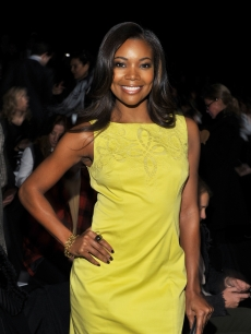 Gabrielle Union attends the Carolina Herrera Fall 2011 fashion show during Mercedes-Benz Fashion Week at The Theatre at Lincoln Center in New York City on February 14, 2011