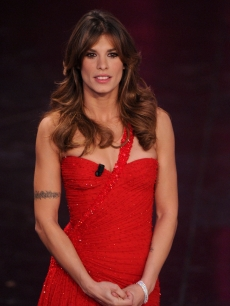 George Clooney's leading lady, Elisabetta Canalis. attends the 61th Sanremo Song Festival at the Ariston Theatre, San Remo, Italy, February 15, 2011