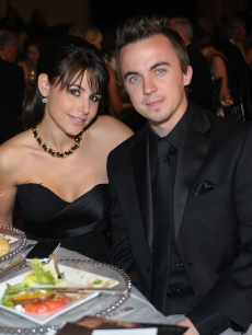 Frankie Muniz and Elycia Turnbow attend Celebrity Fight Night XVI at the JW Marriott Desert Ridge in Phoenix, March 20, 2010