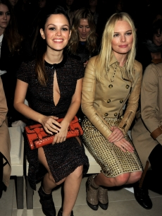 Rachel Bilson and Kate Bosworth attend the Burberry Prorsum Show at London Fashion Week Autumn/Winter 2011 at Kensington Gardens in London on February 21, 2011