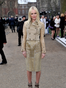 Kate Bosworth attends the Burberry Prorsum Show at London Fashion Week Autumn/Winter 2011 at Kensington Gardens, London, February 21, 2011