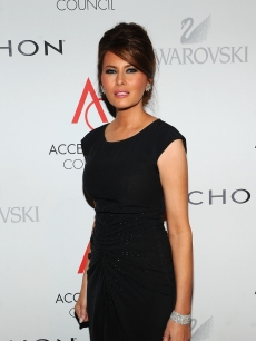 Melania Trump attends the 14th Annual ACE Awards presented by the Accessories Council at Cipriani 42nd Street in NYC on November 1, 2010