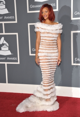 Rihanna arrives at The 53rd Annual Grammy Awards held at Staples Center on February 13, 2011 in Los Angeles, California