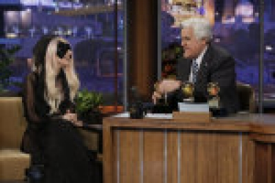 "Lady Gaga on ""The Tonight Show with Jay Leno,"" Feb. 14, 2011"