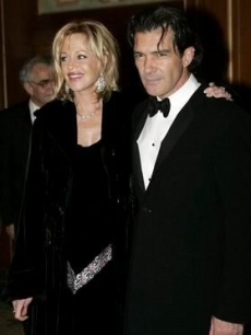 Melanie Griffith and her flame Antonio Banderas