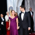 Natalie Portman and fiancée Benjamin Millepied arrive at the 83rd Annual Academy Awards held at the Kodak Theatre in Hollywood, Calif., on February 27, 2011