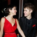 Selena Gomez and musician Justin Bieber attend the 2011 Vanity Fair Oscar Party Hosted by Graydon Carter at the Sunset Tower Hotel on February 27, 2011 in West Hollywood, California