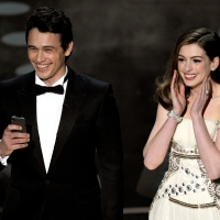 Co-hosts James Franco and Anne Hathaway give their opening monologue onstage during the 83rd Annual Academy Awards in Hollywood, Calif., on February 27, 2011