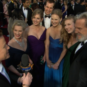 2011 Academy Awards Red Carpet: Jeff Bridges Brings Along The 'Bridges Beauties'