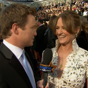 2011 Academy Awards Red Carpet: Melissa Leo's Oscar Doubts & Her Unusual Spider Emblem