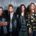 Mike Starr, Layne Staley, Sean Kinney and Jerry Cantrell of Alice in Chains, 1990