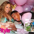 Mariah Carey and Nick Cannon  share a photo from their baby shower with Life & Style magazine, March 2011