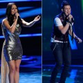 "James Durbin and Pia Toscano perform on ""American Idol"" on March 9, 2011"