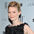 "Mia Wasikowska steps out at the New York premiere of ""Jane Eyre"" at the Tribeca Grand Hotel Screening Room in New York City on March 9, 2011"