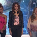 "Ashthon Jones, Karen Rodriguez and Haley Reinhart in the ""American Idol"" bottom three on March 10, 2011"