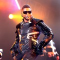 Usher rocks the stage during his concert at Mercedes-Benz Arena in Shanghai, China, on March 12, 2011 