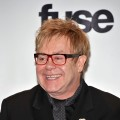 Elton John poses in the press room at the 26th annual Rock and Roll Hall of Fame Induction Ceremony at The Waldorf Astoria in NYC, on March 14, 2011