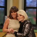 Joan and Melissa Rivers are all smiles on the set of Access Hollywood Live on March 15, 2011