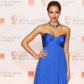 Jessica Alba poses at the Orange British Academy Film Awards at The Royal Opera House in London, England, on February 13, 2011