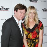 "Mike Myers and Kelly Tisdale attend The Cinema Society & Hugo Boss screening of ""Inglourious Basterds"" at SVA Theater in New York City on August 17, 2009"