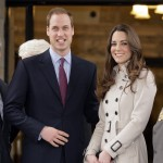 Prince William and Kate Middleton stand on the steps of City Hall during a visit to Belfast, Northern Ireland, March, 8, 2011