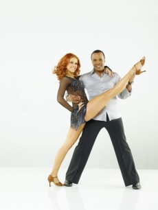 "Boxer Sugar Ray Leonard poses with partner Anna Trebunskaya for Season 12 of ""Dancing with the Stars"""