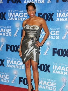 """Southland"" star Regina King arrives at the 42nd NAACP Image Awards held at The Shrine Auditorium in LA on March 4, 2011"