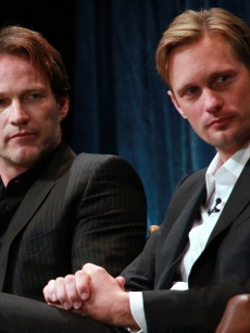 Stephen Moyer and Alexander Skarsgard appear on stage at PaleyFest 2011 presents &#8220;True Blood&#8221; at the Saban Theatre, Beverly Hills, on March 5, 2011