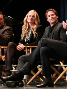 Alan Ball, Anna Paquin, Stephen Moyer and Alexander Skarsgard appear on stage at PaleyFest 2011 presents &#8220;True Blood&#8221; at the Saban Theatre, Beverly Hills, on March 5, 2011