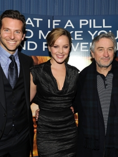 Bradley Cooper, Abbie Cornish and Robert De Niro attend Relativity Media's world premiere of 'Limitless' presented by Deleon Tequila at Regal Union Square Theatre, Stadium 14 on March 8, 2011 in New York City.