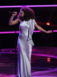 "Ashthon Jones performs Diana Ross' ""When You Tell Me That You Love Me"" on Week 2 of Season 10 of ""American Idol,"" March 9, 2011"
